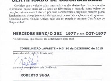 Certificado Certificado de Originalidade